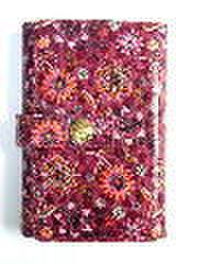 花柄カードケース・レッド