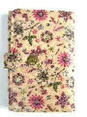 花柄カードケース・ベージュ