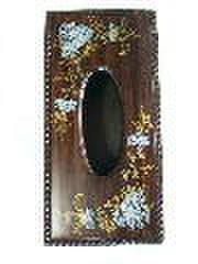 1貝飾り花デコ・ティッシュボックス
