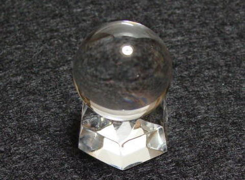 【極上】天然水晶AA丸玉25mm(台座付)