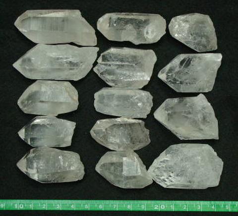 天然水晶ポイント原石 500g