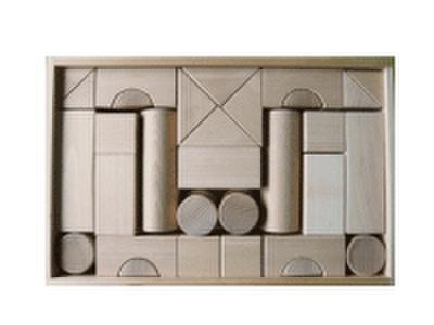 積み木のセット 04          積み木BOX付き 40ピース