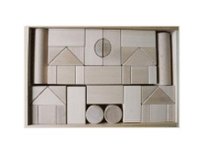 積み木のセット 05          積み木BOX付き 50ピース
