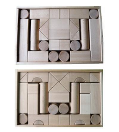 積み木のセット 07          積み木BOX付き 80ピース