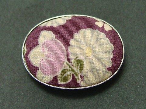 和柄ちりめん帯どめ1(紫)