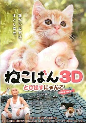 映画チラシ: ねこばん3D とび出すにゃんこ