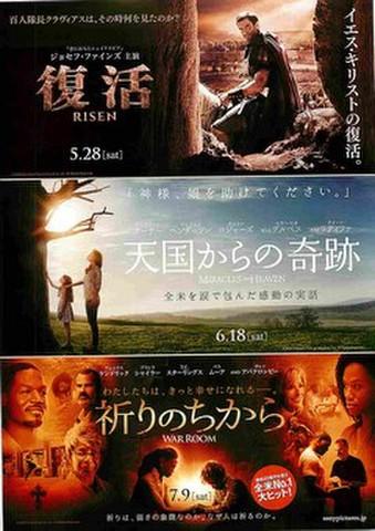 映画チラシ: 復活 RISEN/天国からの奇跡/祈りのちから