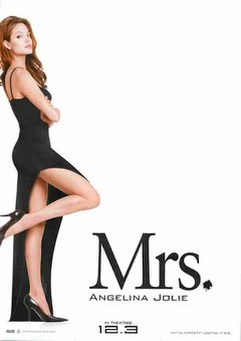 映画チラシ: Mr.&Mrs.スミス(Mrs.ANGELINA JOLIE・裏面下:GET! MORE INFORMATION)