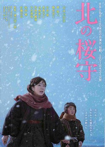 映画チラシ: 北の桜守(題字タテ)