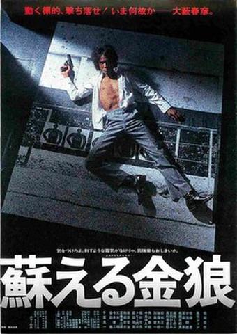 映画チラシ: 蘇える金狼(松田優作)