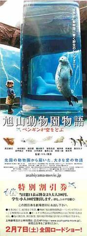 旭山動物園物語 ペンギンが空をとぶ(割引券)