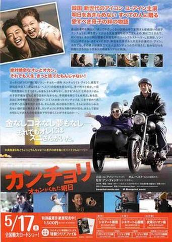 映画チラシ: カンチョリ オカンがくれた明日(裏面DVD広告)