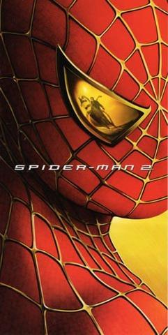 スパイダーマン2(大判試写状・2枚折+2枚組・来日記者会見のご案内)