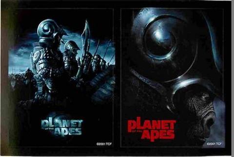 映画チラシ: 猿の惑星 PLANET OF THE APES(リメイク)(小型・ステッカー・2片付)