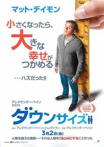 映画チラシ: ダウンサイズ(全世界~コピーなし)