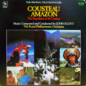 LPレコード527: COUSTEAU AMAZON The Expedition of the Century.(輸入盤・ジャケット角欠損あり)