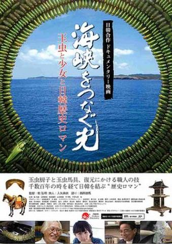 映画チラシ: 海峡をつなぐ光 玉虫と少女と日韓歴史ロマン