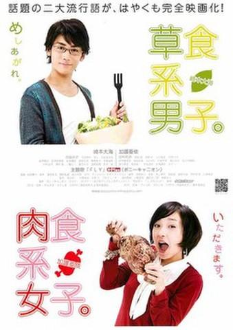 映画チラシ: 草食系男子。/肉色系女子。(縦)