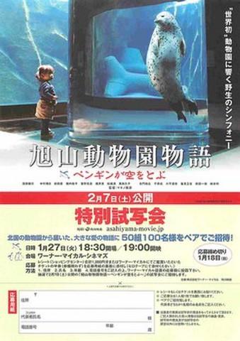 映画チラシ: 旭山動物園物語 ペンギンが空をとぶ(ワーナーマイカル発行・試写会応募用紙)