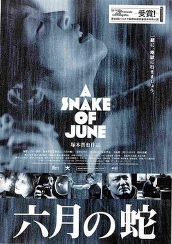 映画チラシ: 六月の蛇(右上:受賞!あり)