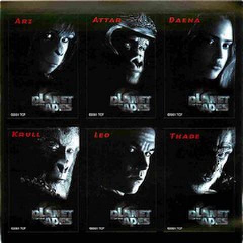 映画チラシ: 猿の惑星 PLANET OF THE APES(リメイク)(小型・ステッカー・6片付)