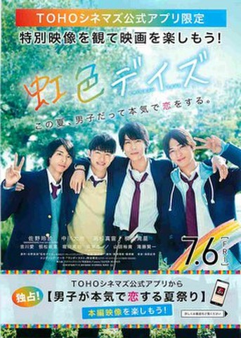 映画チラシ: 虹色デイズ(TOHOシネマズ発行)