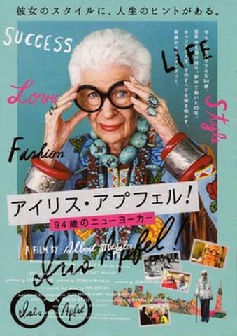 映画チラシ: アイリス・アプフェル! 94歳のニューヨーカー(2枚折)