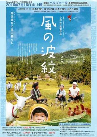 映画チラシ: 風の波紋(ホール版・ベルブホール)