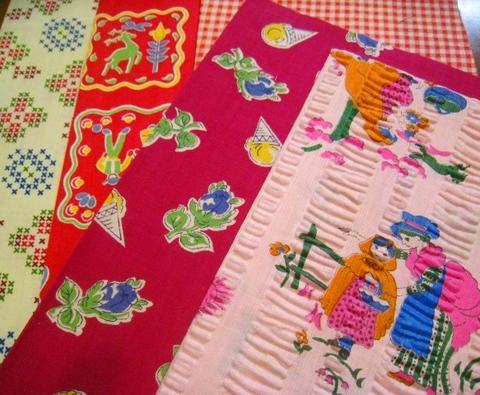 vintage fabric set-9