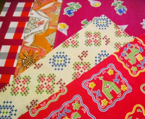vintage fabric set-8