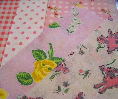 vintage fabric set-10