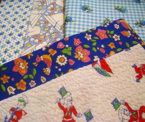 vintage fabric set-5
