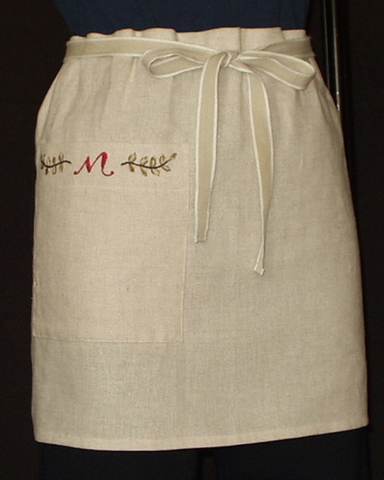 LE-1 刺繍エプロン