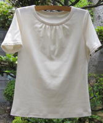 OCT-33オーガニック半袖フリルレースTシャツ