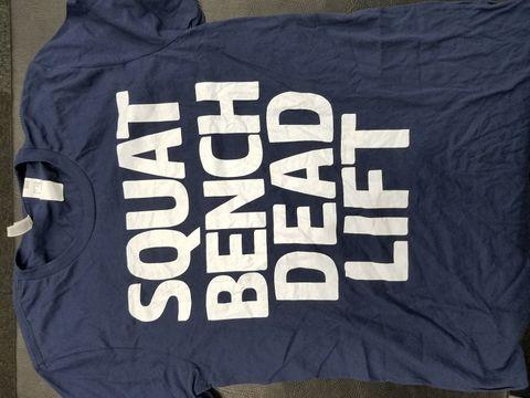 SQUAT BENCH DEAD Tシャツ【送料360円発送可能】