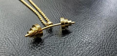 バーベル型ネックレス(ゴールド/シルバー/ブラック)