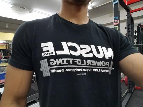 マッスルプロTシャツ プラチナシルバー(袖ロゴあり)【送料360円発送可能】
