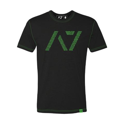 A7フィットネスTシャツ 黒/緑【送料360円発送可能】