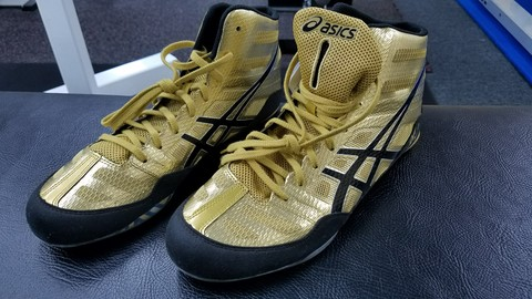 【ASICS】レスリングシューズ ゴールド OLY GOLD/BLACK/WHITE J3A1Y