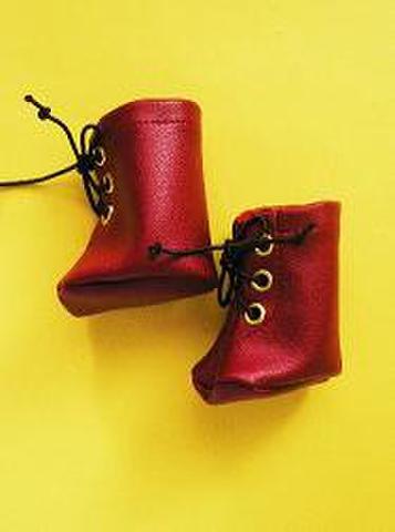 合皮ブーツ赤(ミディアム・ge36)