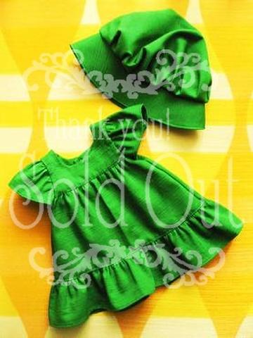 オーバードレスと帽子のセット(緑)