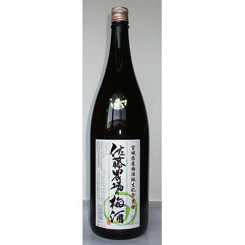 佐藤農場の梅酒 黒糖タイプ お徳用サイズ1800ml