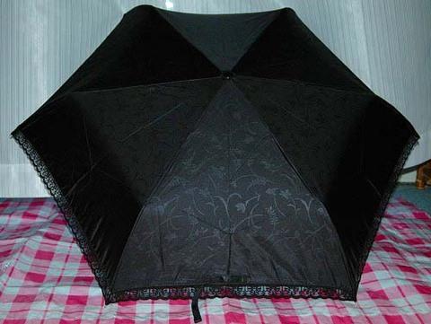 晴雨兼用折りたたみ傘 ブラック