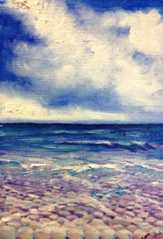 青い空、青い海