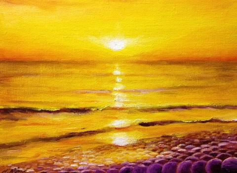 黄金色の海