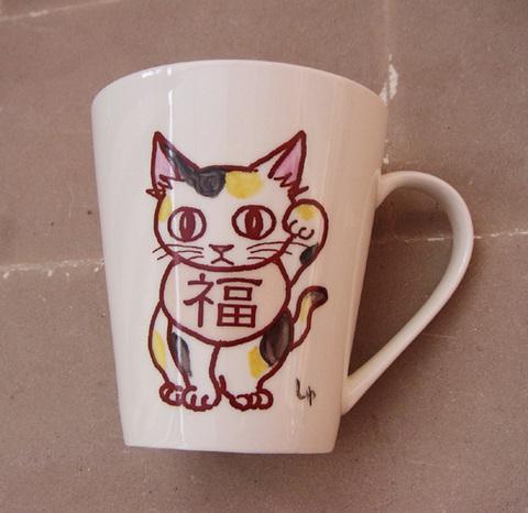 招き猫カップ-4