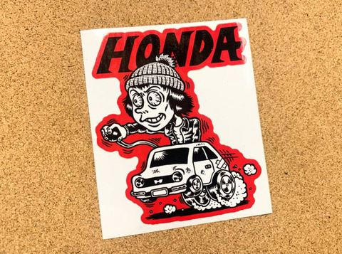 イラストステッカー『HONDA』赤枠