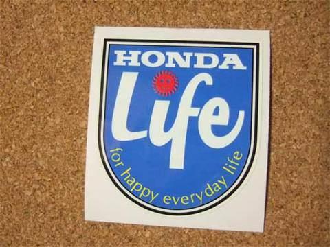HONDA『Life』ステッカー(赤)