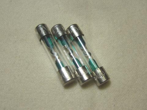 ガラス管ヒューズ20A(3本セット)