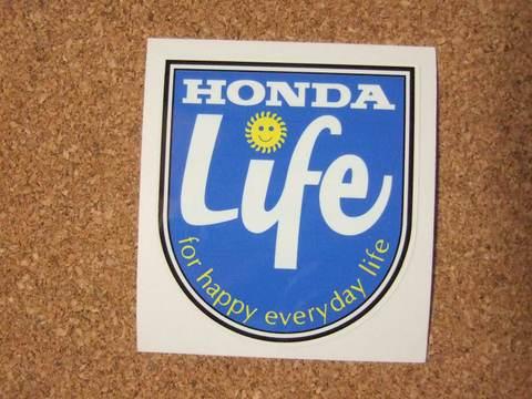 HONDA『Life』ステッカー(黄)